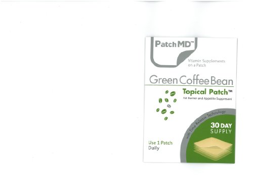 Green Coffee Bean Topical Patches - 30 Day Supply