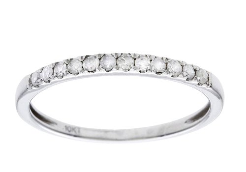 10k White Gold 1/5ct Stackable Pave Diamond Band (G-H, I1-I2)