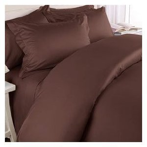 1200 Thread Count QUEEN Size 4pc Egyptian Bed Sheet Set, Deep Pocket, CHOCOLATE