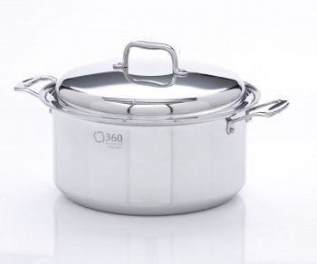 360 Cookware Stainless Steel Stockpot with Cover, 8-Quart (360 Cookware Stock Pot compare prices)