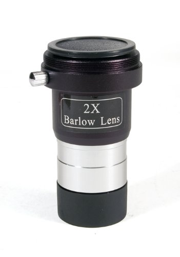 Levenhuk 2X Barlow Lens With Camera Adapter Achromatic Fully Multi-Coated For Astrophotography