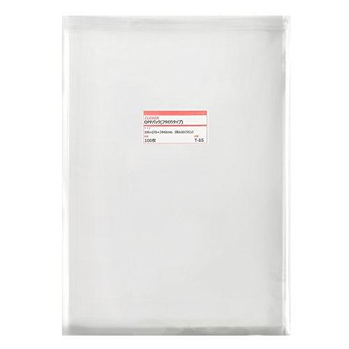 透明OPP袋 テープ付 195×270+フタ40mm ≪B5用紙/A5版書籍向け≫ 30ミクロン 【100枚】