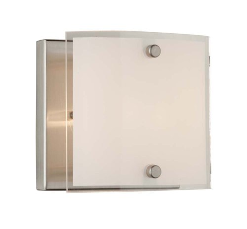 Artcraft AC3331 Brentwood Modern Contemporary Wall Sconce in Brushed Nickel with Frosted Glass Shade