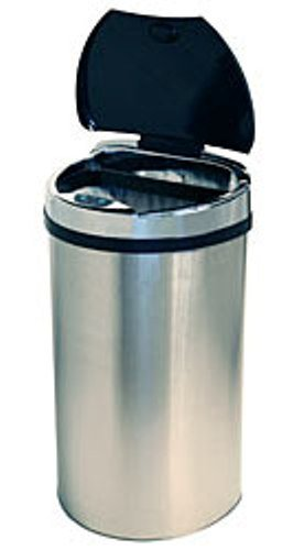 iTouchless 13 Gallon Semi-Round Extra-Wide Automatic Sensor Touchless Trash Can , iTouchless , Trash Cans, Small Appliances (Trash Can 13 Gallon Semi Round compare prices)