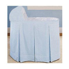 Ric Rac Blue Bassinet Liner/Skirt and Hood - Size 16 x 32