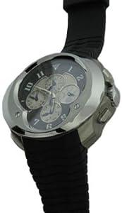 Franc Vila: Esprit Unique Annual Calendar Chronograph Men's Watch, 12.9a.TIDHES.CF-WHG.5N.5NH (Stainless Steel Case / Black carbon fiber Dial / Black Rubber Strap)