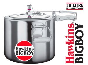 Hawkins Bigboy Aluminum 18 Litre Pressure Cooker with Separators and Grid to Cook Different Foods At the Same Time (Hawkins Big Boy Cooker compare prices)