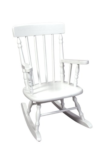 Gift Mark Deluxe Children?s Spindle Rocking Chair, White
