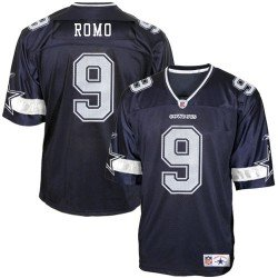 Tony Romo Reebok NFL Navy Replica Dallas Cowboys Jersey - X-Large