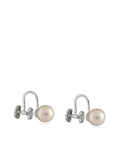 Splendid Screw Back 7-7.5mm White Pearl Stud Earrings