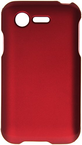 HR Wireless Rubberized Cover for LG Optimus Zone 2 L34C Fuel - Retail Packaging - Red (Lg Optimus Fuel Cell Phone compare prices)