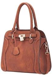 Melie Bianco Monica Raised Curve Satchel Handbag with Optional Strap