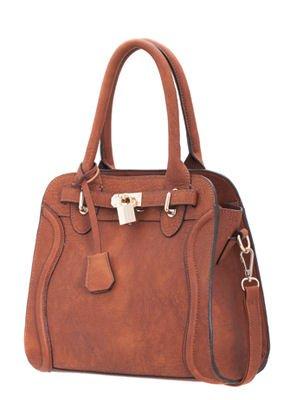 melie-bianco-monica-raised-curve-satchel-handbag-with-optional-strap-saddle-brown