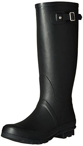 Chooka Women's Ch Classic Mid Cafe Racer Herringbone Rain Boot, Black, 7 M US (Stylish Rain Boots compare prices)