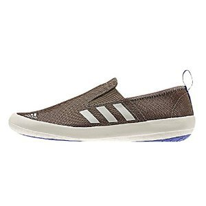 Adidas Boat Slip On DLX Sneaker Shoe - Grey Blend / Clear Brown / Night Flash - Mens - 8