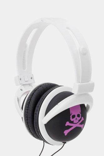Lauren Spade Printed Skull Headphone (Pink)