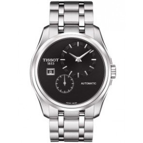 Tissot Couturier Automatic Black Dial Stainless Steel Mens Watch T0354281105100