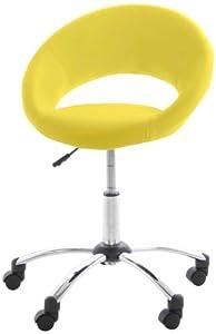 AC Design Furniture 50888 Bürostuhl Thilde, Kunstleder gelb