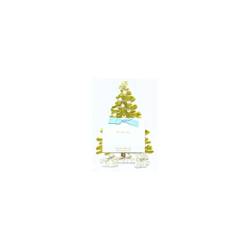 White Ornament Christmas Tree Die cut Card, Pack of 10