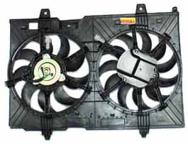 TYC 621880 Nissan Rogue Replacement Radiator/Condenser Cooling Fan Assembly by TYC