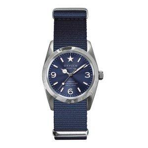 Oxygen - EX-S-BOS-34-NA - Sport - Montre Femme - Quartz Analogique - Cadran Bleu - Bracelet Nylon Bleu