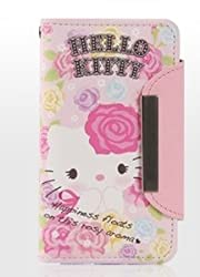 Galaxy Case/Hello Kitty Card Wallet Case for Samsung Galaxy S3 III(AT&T,T-Mobile,Sprint,Verizon and International S3 Models) included Strap-Rose-SEALED