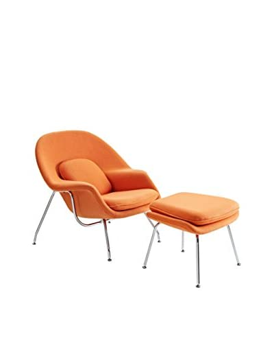 Modway W Lounge Chair, Orange