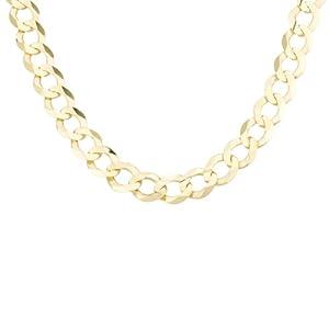 Men's 14k Yellow Gold 9mm Cuban Chain Necklace, 22