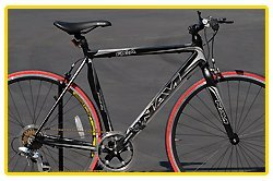 Navi FX-A 7-speed - Matte Black, Aluminum Alloy Shimano 7-speed road bike 54cm 540mm