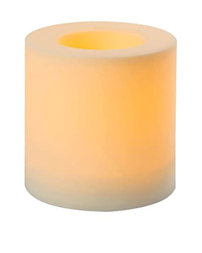 Candle Impressions Flameless Candle Outdoor Pillar Cream, Cream