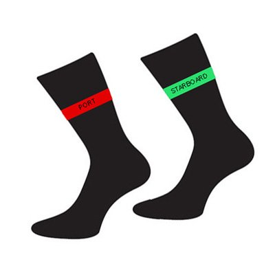 Men's Novelty Designer Pair Of Red & Green Port & Starboard Stripe Cotton Rich Socks (Fits Size 5 to 12) - A Great Christmas, Birthday, Valentine, Anniversary, Wedding Gift For Husbands, Fathers, Boyfriends, Friends And Work Colleagues