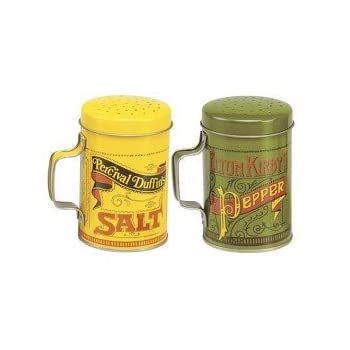 The sign of a great cook is to have everything within reach. These attractive shakers measure 4-inch /10cm. Large capacity, with large holes, each holds 10 ounces. Get the look of nostalgic with these painted tin plated steel shakers.