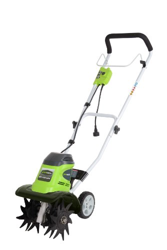 Cheapest Prices! GreenWorks 27072 8-Amp Corded Tiller, 10-Inch