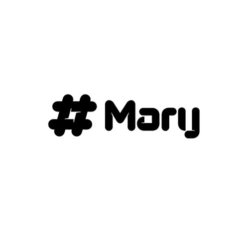 MARY Male Name Car Laptop Wall Sticker