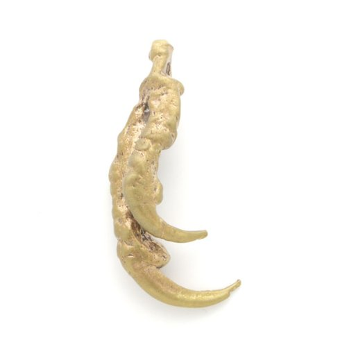 Solid Brass Double Hawk Claw Charm