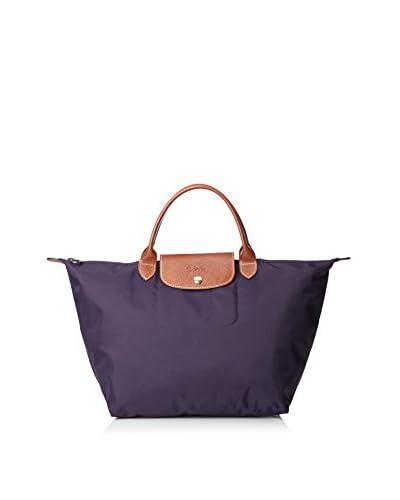 Longchamp Women's Le Pliage Satchel, Purple