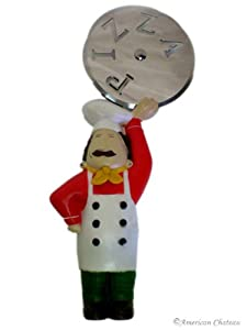 Fat French Chef Pizza Cutter Slicer Kitchen Decor by Jole