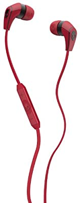 Skullcandy 50/50 with Mic3 Earphones/Earbuds Premium Headphone - Red / One Size