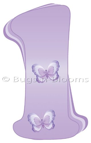 """""""L"""" Lavender Purple Butterfly Alphabet Letter Name Wall Sticker. Decal Letters For Children'S, Nursery & Baby'S Room Decor, Baby Name Wall Letters, Girls Bedroom Wall Letter Decorations, Child'S Names. Butterflies Mural Walls Decals Baby Shower front-985024"""