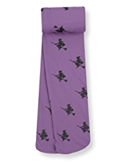 Halloween Witch Print Tights