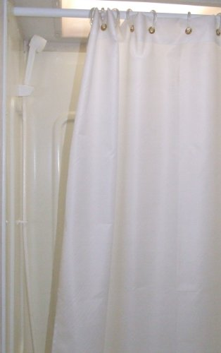 47X64 Shower Curtain Rv Shower Curtain Shorter And Narrower Than Regular Shower Curtain Color: Off-White front-1047783