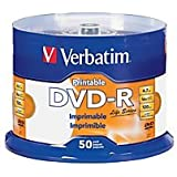 Verbatim Life Series DVD-R Printable Disc Spindle, Pack Of 50 98472