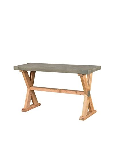 CDI Furniture International Concrete Console Table, Brown/Grey