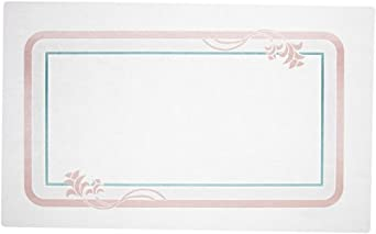 "Dinex DXR30840E Paper Floret Tray Cover with Straight Edge/Small Corner, 18"" Length x 11"" Width, Size E (Case of 1000)"