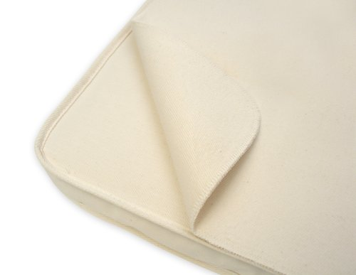 Naturepedic Organic Cotton Non-Waterproof Baby Bassinet Pad Cover Flat