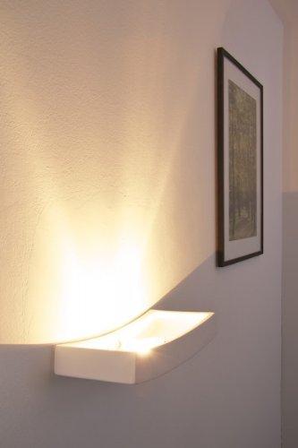 Applique lampada da parete verniciabile con luce verso lalto