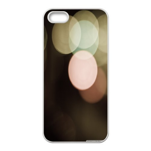 Ancos Bokeh 16 Case for IPhone 5,5S Printed, Cute Iphone 5s Cases for Girls Unique for Guys with White