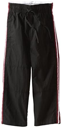 Wes & Willy Little Boys' Toddler Side Stripe Athletic Pant, Black, 3T