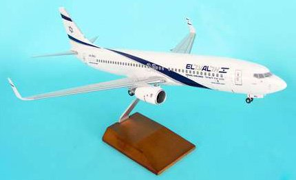 1: 100 スカイマークスSuprem El Al Israel 航空 ボーイング 737-800 with Landing Gear and Wood Stand (並行輸入)