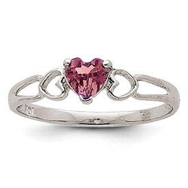 Genuine IceCarats Designer Jewelry Gift 14K White Gold Rhodolite Garnet Birthstone Ring Size 6.00